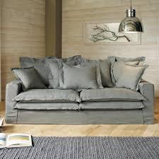 canape lisbonne maison du monde canapé 3 4 places fixe gris clair lisbonne maisons du monde