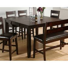 jofran rustic prairie distressed counter height dining table with