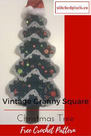 vintage granny christmas tree u2013 stitched pixels