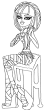 cleo de nile monster high coloring page coloring pages of
