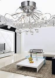 Wall Mount Chandelier Loco Modern Crystal Chandelier With 11 Lights Chrom Flush Mount