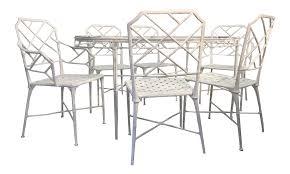 Jordan Furniture Dining Room Sets by Brown Jordan Faux Bamboo Patio Table U0026 6 Chairs Chairish