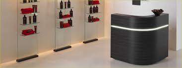 Desks Hair Salon Reception Furniture Monroe Reception Counter Black In Reception Desk For Salon Plans