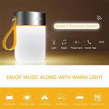 rock mulite bluetooth speaker ii led ipx4 waterproof stereo