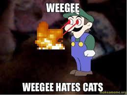 Weegee Memes - weegee weegee hates cats make a meme