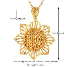 big flower necklace images Exquisite big flower 18k gold plated pendant necklace red star store jpeg