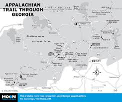Map Of Georgia With Cities Printable Travel Maps Of Georgia Moon Travel Guides