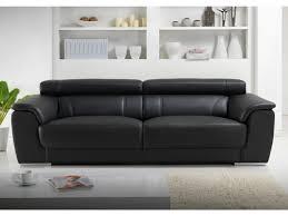 vente unique canapé cuir vente flash canapé 3 places kalina en cuir noir achat canapé 3