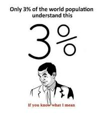 If You Know What I Mean Meme - only 3 of the world population understand this 3 if you know