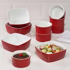 la cuisin foto conjunto de tigelas em cerâmica 10cm 6 peças vermelho la