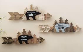 arrow wood wall set of 3