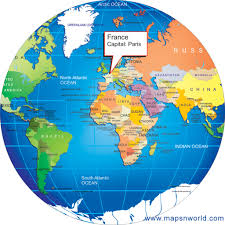 India On The World Map by Where Is France World Globe
