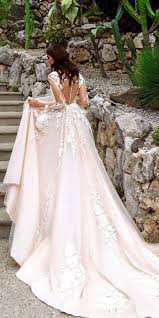 blush wedding dress with sleeves 42 alluring blush wedding dresses that would him blushing all