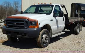 1999 ford f450 super duty flatbed truck item h3457 sold