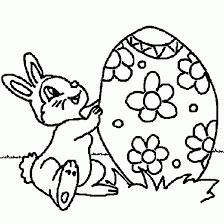 coloriage de coloriage paques dessin lapin gratuit paques