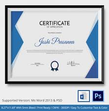 certificate of coach template 5 word psd format download