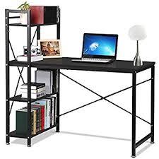 Shelf Computer Desk Black Computer Desk Workstation Table With 3 Drawers U0026 3 Shelves