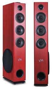 home theater with tower speakers vm audio exat33 cherry floorstanding powered bluetooth home tower