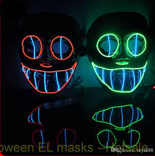 Saw Mask Flashing El Wire Light Up Vendetta Saw Mask Clown Mask On Off