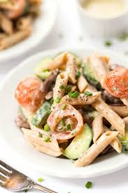 Creamy Pasta Salad Recipes by Creamy Mediterranean Pasta Salad Simply Quinoa