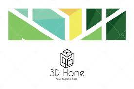 Home Design Vr by Logovenue 3d Home Architect Logo Design Template For Interior