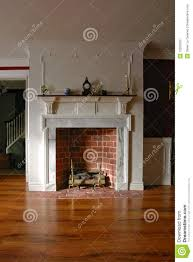 Colonial Home Interiors Fireplace In Antique Colonial Style Home Interior Stock Photo
