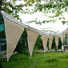 wedding home decoration new 3m triangle birthday linen pennant flag wedding home church