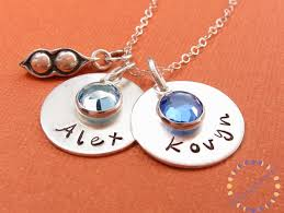 two peas in a pod jewelry personalized necklace two peas in a pod sterling silver necklace