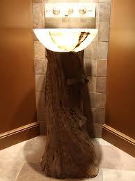 Repurposed Bathroom Vanity by 20 Upcycled And One Of A Kind Bathroom Vanities Tree Trunks