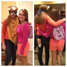 best dora the explorer and swiper the fox couple costumes