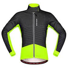 fluorescent cycling jacket fluorescent green thermal windproof jacket cycling jacket men women