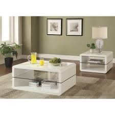 White Coffee Table Sets Youll Love Wayfair - Living room table set