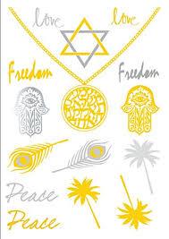 amazon com jewish hamsa shema temporary metallic flash tattoos