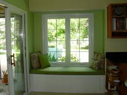 kitchen windows ideas refreshing green nuance contemporary sitting space decorated with