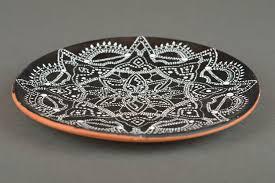 home decor handmade madeheart u003e handmade designer round ceramic plate for home decor