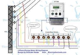 distribution board wiring for single phase electrical energy meter