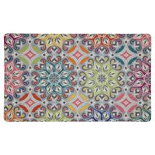 teal medallions kitchen floor mat rug 18 x30 target