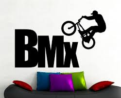popular bmx room decor buy cheap lots from china bmx wall sticker extreme sports decals freestyle jumping living room decor boys art mural