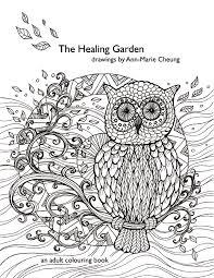 healing garden colouring book ann marie cheung