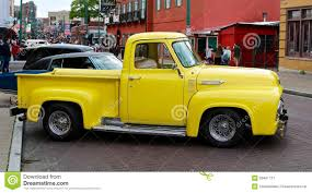 Antique Ford Truck Models - showroom condition antique yellow ford pick up truck editorial