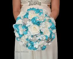 wedding bouquets with seashells theme wedding bouquets with turquoise and white roses