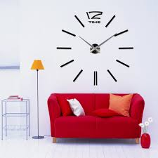 wall stickers uk wall art stickers kitchen wall stickers wc2046 3d giant vinyl adhesive wall clock black
