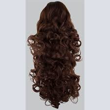 4 Piece Clip In Hair Extensions by Ponytail Clip In Hair Extensions Dark Auburn 33 Reversible 4