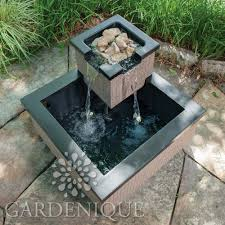 Patio Pond by Pond Boss Bristol Cocoa Corner Patio Pond With Led Lights