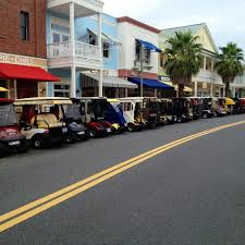 main street parking we go everywhere in our golf cart the