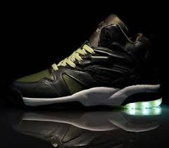 la light up shoes new la gear tech sneakers light up soles in green sz 10 90 s shoe