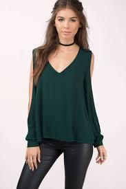 green blouses green blouse cut out blouse green v neck blouse 52 tobi us