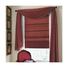 Red Scarf Valance Microfiber Scarf Valance Curtain Drapery Com
