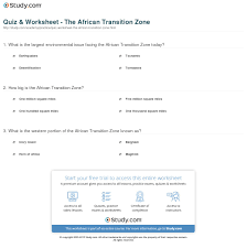 quiz u0026 worksheet the african transition zone study com