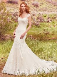 fit and flare wedding dress callie wedding dress maggie sottero